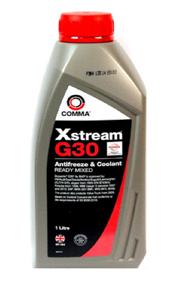 Антифриз COMMA XSTREAM G30 KONC. 1L (тип G12 +)