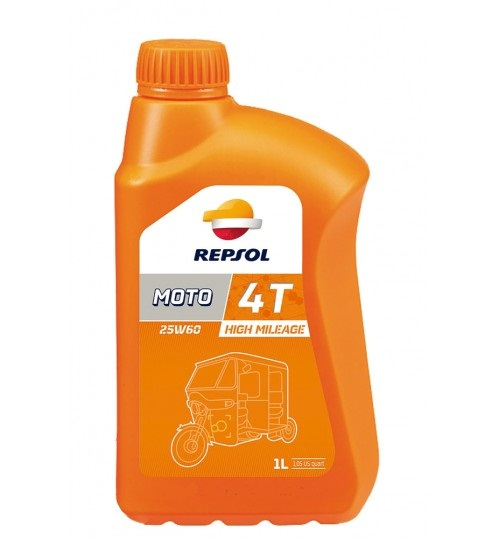 Моторное масло REPSOL MOTO HIGH MILEAGE 4T 25W60, 1л (RP181I51)