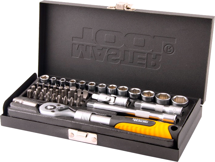 "Mastertool  1/4""DR, 45шт."