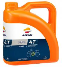 Моторное масло REPSOL MOTO OFF ROAD 4T 10W40, 4л (RP162N54)